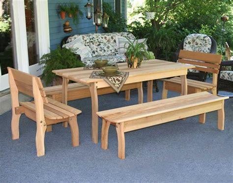 Cedar Patio Furniture Country Furniture Dining Set Cedar Patio Set Cedar