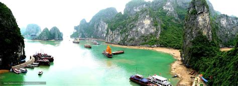 free wallpaper vietnam download wallpaper vietnam mountains boat free desktop