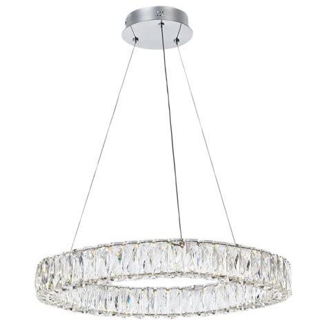 light crystal prism 2 5 crystal hoop led prism bar ceiling pendant chrome and