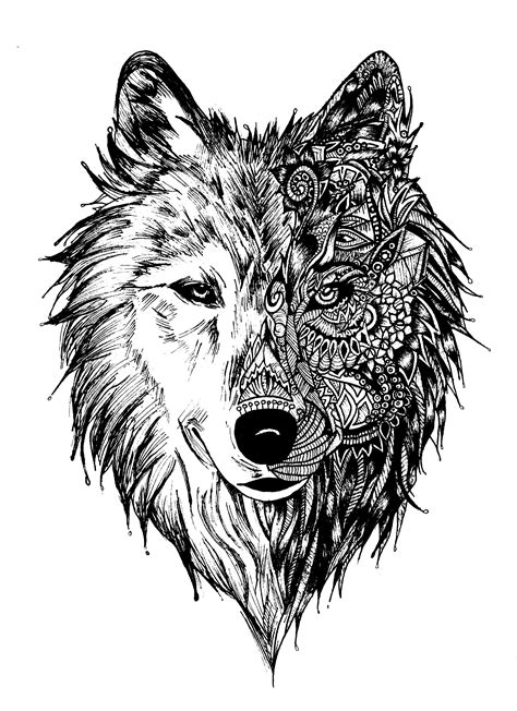 pattern tattoo art principles art design unity in a work of art this wolf