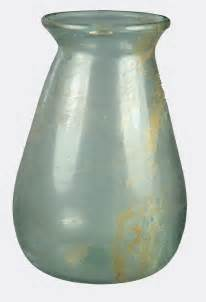 Roman Glass Vase Roman Pale Blue Glass Vase Ebay