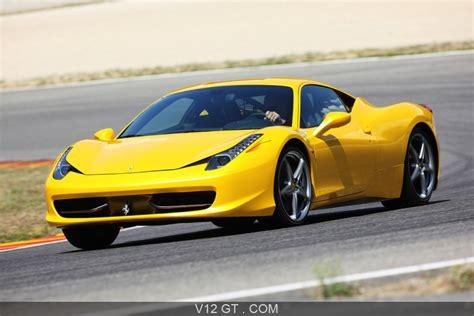 Ferrari 458 Italia jaune 3/4 avant gauche filé / Ferrari / Photos GT / Les plus belles photos de