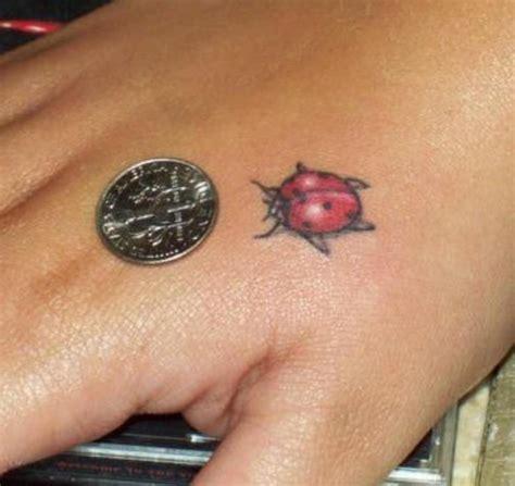 ladybug tattoo behind ear ladybug tattoo on hand