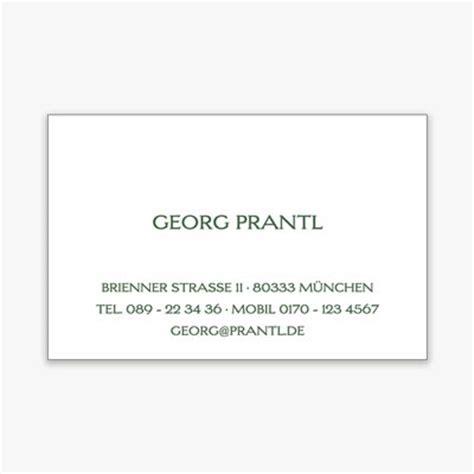 Visitenkarten Privat by Edle Karten Drucken Selbst Gestalten Prantl Seit 1797