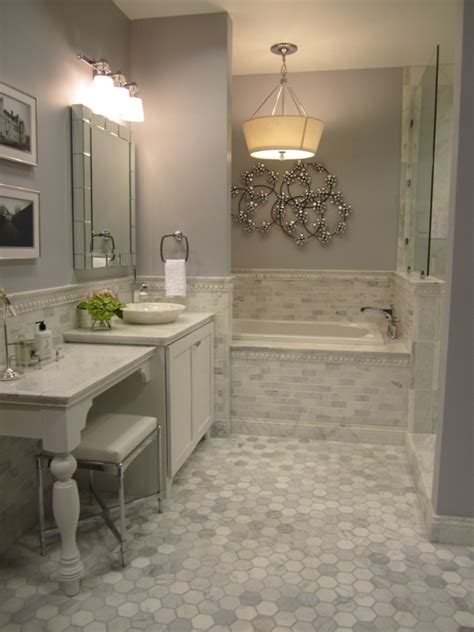 marble tiles contemporary bathroom sherwin williams lazy gray