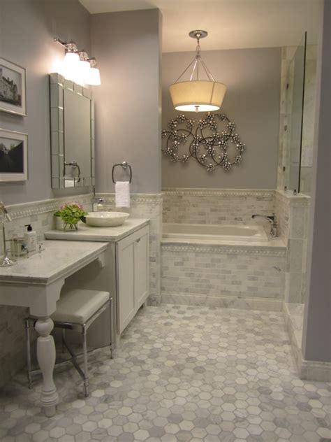 carrera marble tiles contemporary bathroom sherwin