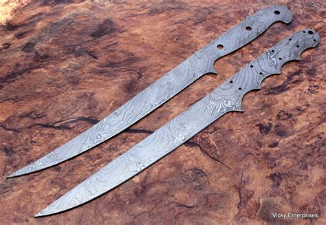 Handmade Fillet Knife - damascus knife custom handmade 13 inches fillet knife