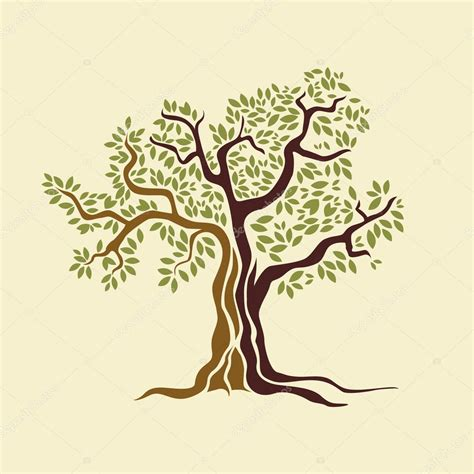 olive vector olive tree vector illustration stock vector