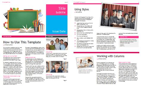 School Newsletter Templates For Classroom And Parents School Newsletter Templates