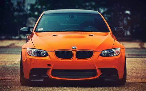 car front bmw m3 orange car front view wallpapers hd desktop