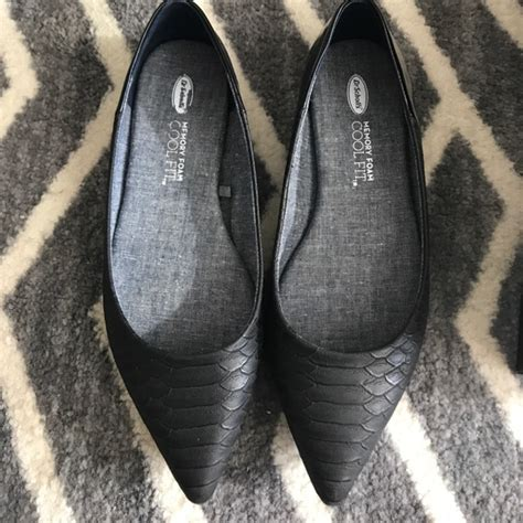dr scholls house slippers 50 off dr scholls shoes dr scholl s memory foam cool fit black flats from allie s