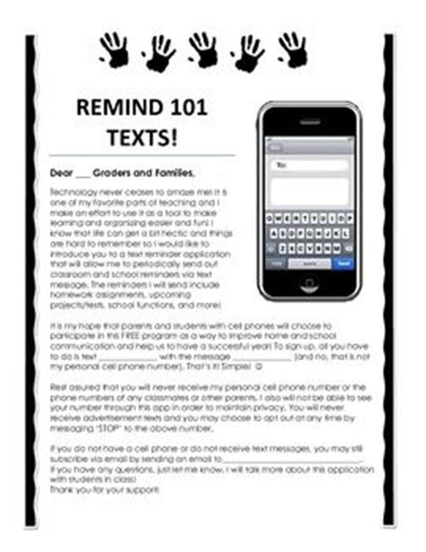 Parent Letter Remind Remind 101 Parent Information Letter General Classroom Remind 101 Parents And Texts