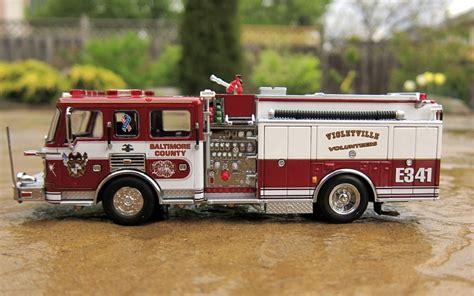 code  diecast fire truck collection american lafrance eagle violetville pumper