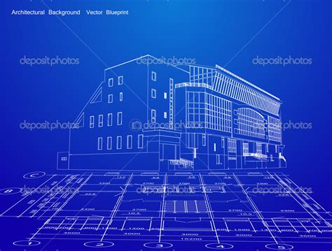 building blueprint modern architecture blueprints interior design