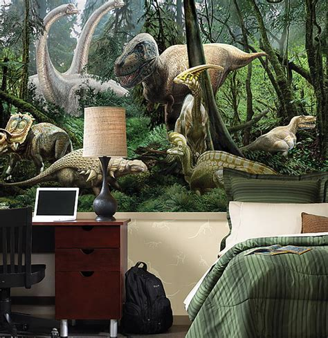 Dinosaur Themed Bedroom | kids bedrooms with dinosaur themed wall art and murals