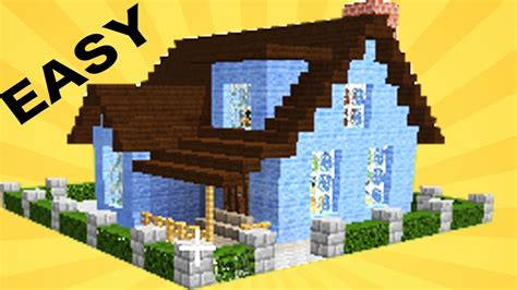 how to build awesome houses in minecraft minecraft how to build a cool house in 15 min 30 youtube