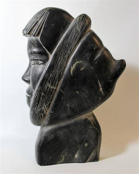 eskimo soapstone carvings inuit soapstone sculpture of eskimo in parka for sale at