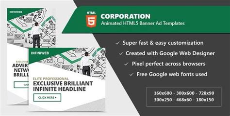 Top Best Html5 Ad Templates To Greatly Promote Your Products Gt3 Themes Html5 Banner Template