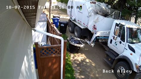 security captures saskatoon garbage truck