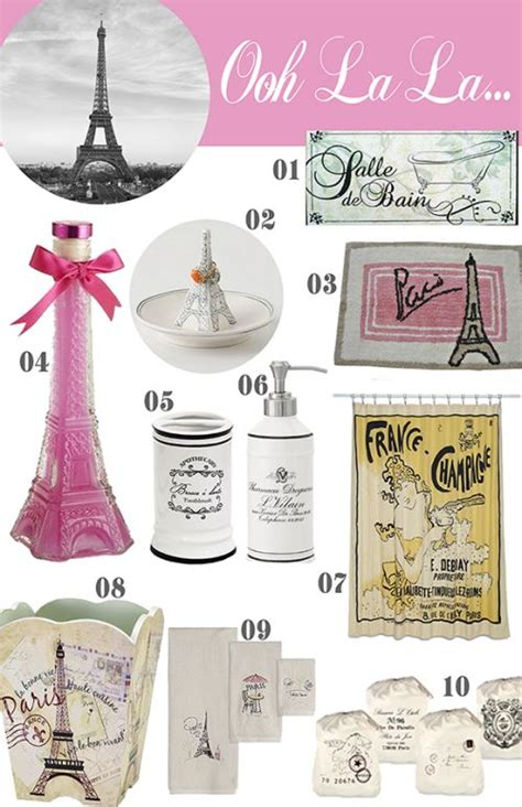 paris bathroom accessories sets 10 paris items for the bathroom girls paris themed