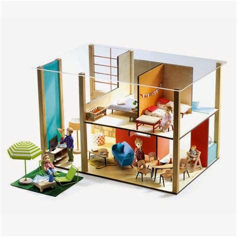 modern dollhouse mini modern 1 16 djeco dollhouse is throwback modern cuteness