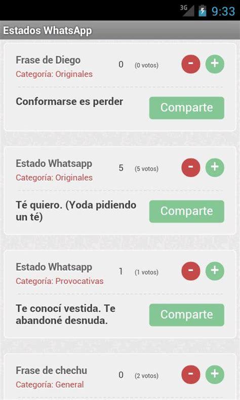 frases cortas para poner de estado frases y estados whatsapp para android descargar