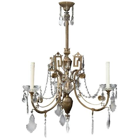 Gas Chandelier 19th Century Neoclassic Gas Chandelier From Circa 1860 For Sale At 1stdibs