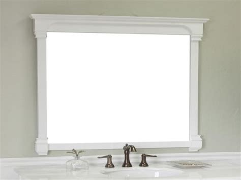 White Vanity Mirror For Bathroom by Framed Mirrors For Bathrooms Pottery Barn Mirrors