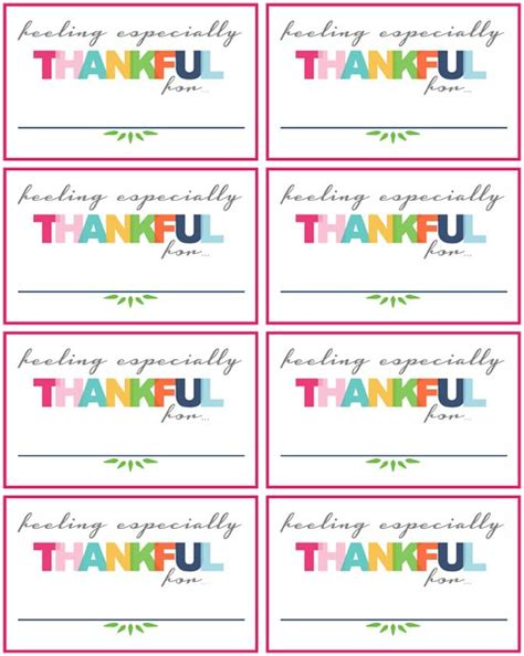we are thankful for place card template iheart organizing free thanksgiving activity