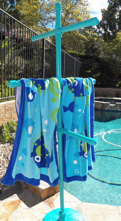 Pool Towel Rack Stand by Best 25 Towel Rack Pool Ideas On Pvc Towel