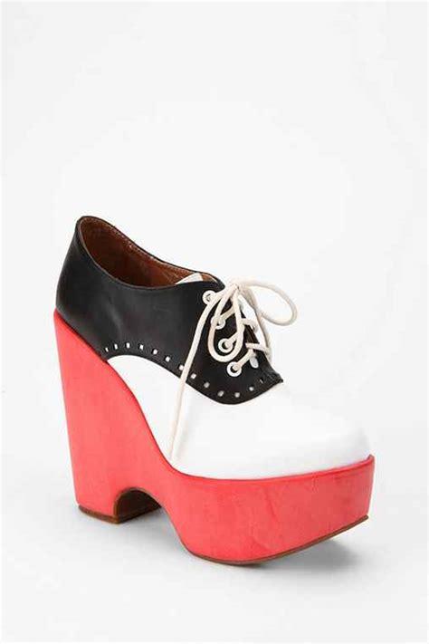 jeffrey cbell lindy platform saddle shoe outfitters
