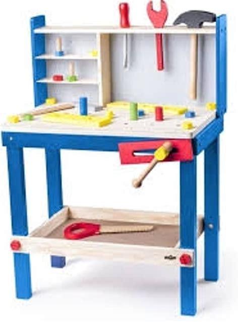 speelgoed werkbank bol woody luxe houten speelgoed werkbank voor