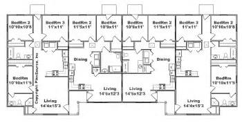 4 Plex Floor Plans by Fourplex Plan J2878 4 Plansource Inc