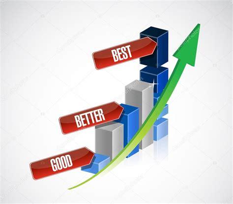 better best better best business graph stock photo
