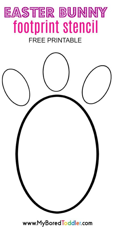 easter bunny footprint stencil  bored toddler