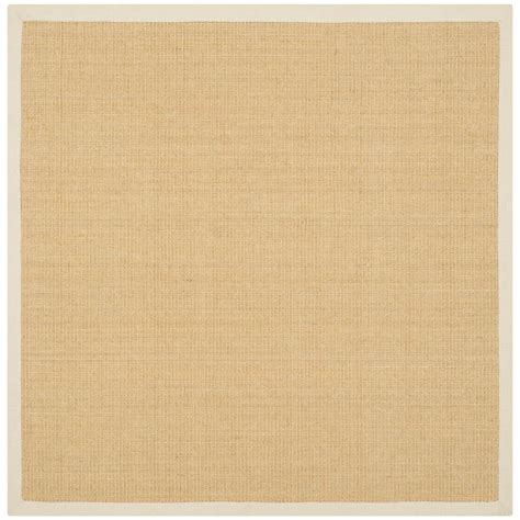8 Foot Square Area Rug Safavieh Fiber Maize Wheat 8 Ft X 8 Ft Square