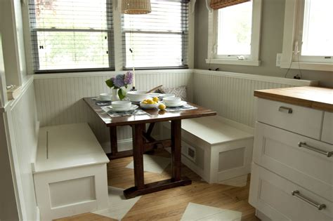 breakfast table with bench seat small custom breakfast nook set with white wood storage