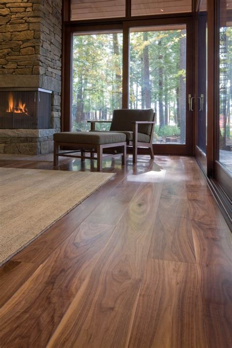 prefinished walnut flooring lake home carlisle wide