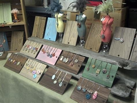 diy jewelry display for craft shows arts and craft show display for polymer clay jewelry