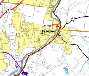 Loveland Ohio Map by Loveland Ohio Map