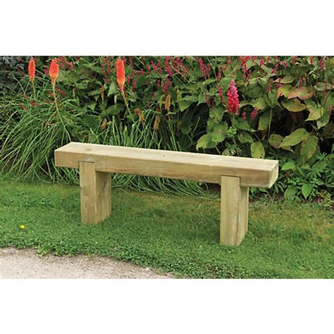 Travis Perkins Sleepers by Forest Garden Sleeper Bench 1 2m Wickes Co Uk