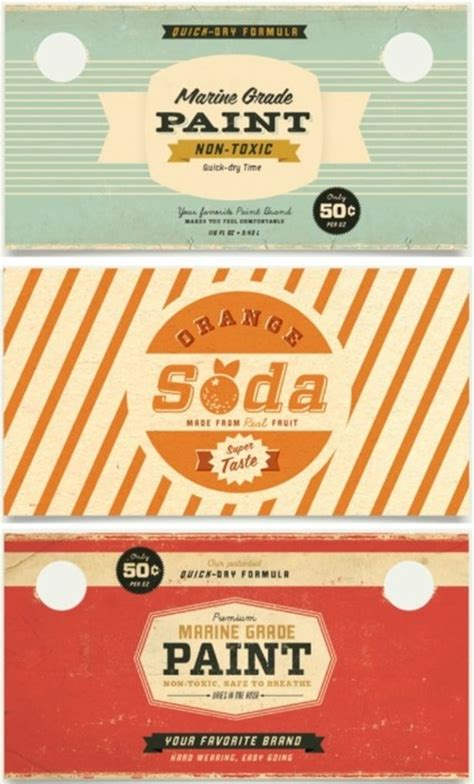 paint and soda labels the best 50s designs sodas paint and vintage