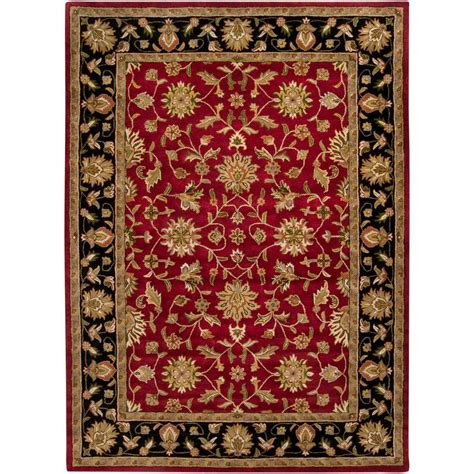 10 X14 Area Rug Artistic Weavers Valorie Burgundy 10 Ft X 14 Ft Area Rug Val 6013 The Home Depot