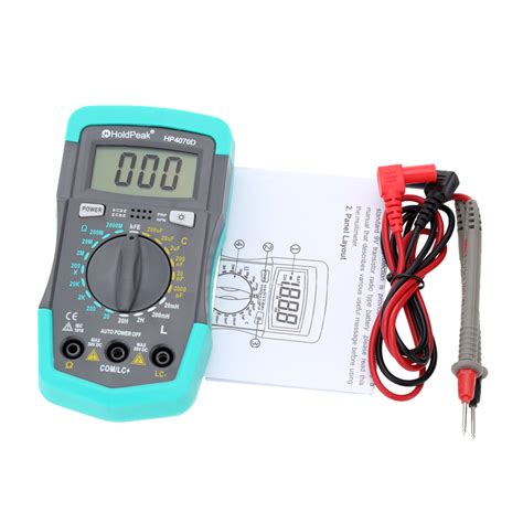 how to test a inductor with multimeter hp4070d mini digital multimeter resistance meter capacitance tester inductance transistor test