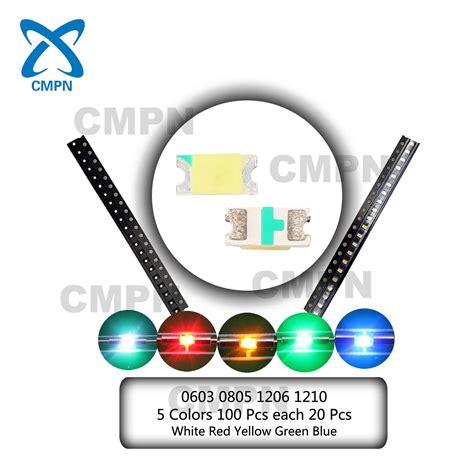 Chip Smd Led 5050 Green 520 530nm Hijau 5000 9000mcd 30 34v 0402 0603 0805 1206 1210 5050 smd smt led diodes mix kits warm white blue ebay