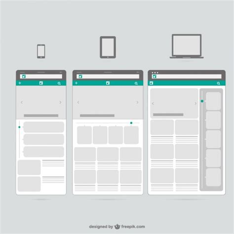 Web Templates Mobile Devices Vector Free Download Mobile Website Templates Free
