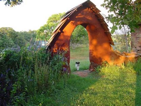 Cob Clay Sand Straw Arch Designed Built By Natural Cob Garden Wall