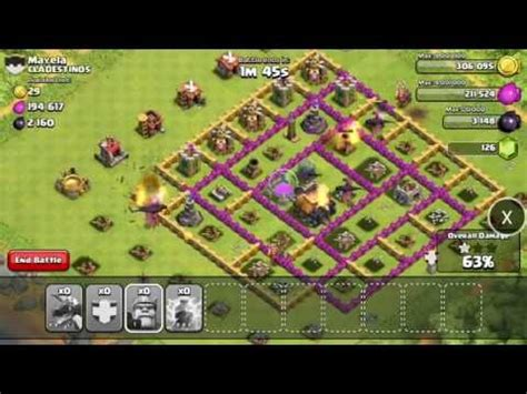 coc layout attack simulator clash of clans war simulation attack youtube