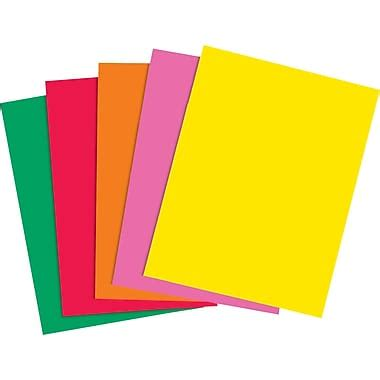 What To Make With Coloured Paper - staples brights 24 lb colored paper assorted colors