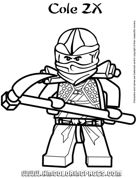 free coloring pages of ninjago ninjago cole zx coloring page free printable coloring